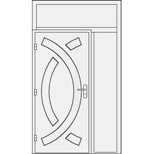 Lauko durys su šonine dalimi ir viršduriu