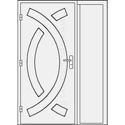 Lauko durys su šonine dalimi
