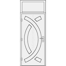 Lauko durys su viršduriu