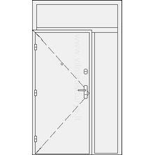 Šarvuotos buto durys su šaliduriu ir viršduriu