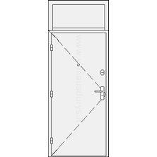Šarvuotos buto durys su viršduriu